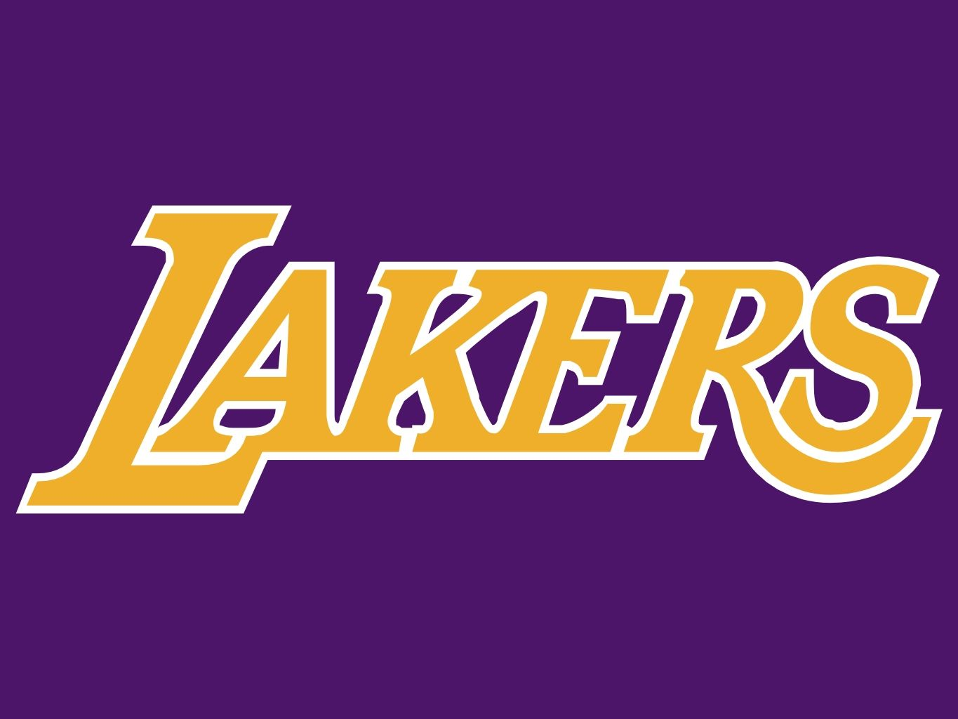 The Lakers logo is an excellent example of using purple