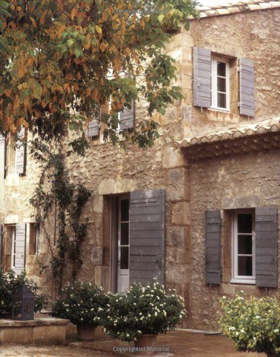 Divine French farmhouse - gorgeous blue shutters