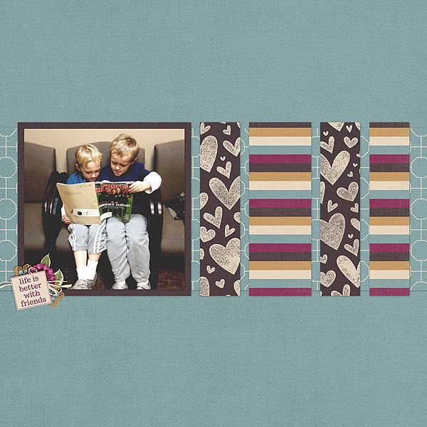 Template & kit, Friends Forever, by Shel Belle Scraps.