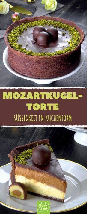 Packe 3 Mozartkugeln aus und lege sie direkt drauf. Das wirst du nicht vergessen!
