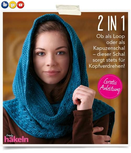 gratisanleitung kaputzenloop fantastische hkel mode ideen heft 012015 - Fantastisch Bder Ideen 2015