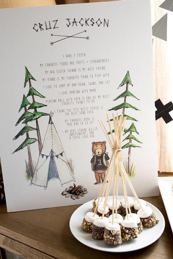 Camp Cruz 1st Birthday 100 Layer Cakelet Fall Birthday