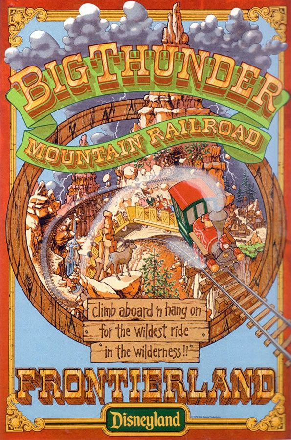 #Disney_Attraction_Posters #FRONTIERLAND #Big_Thunder_Mountain