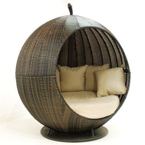 Rattan outdoor garden furniture apple daybed sofa brown Oak Furniture House  http//www