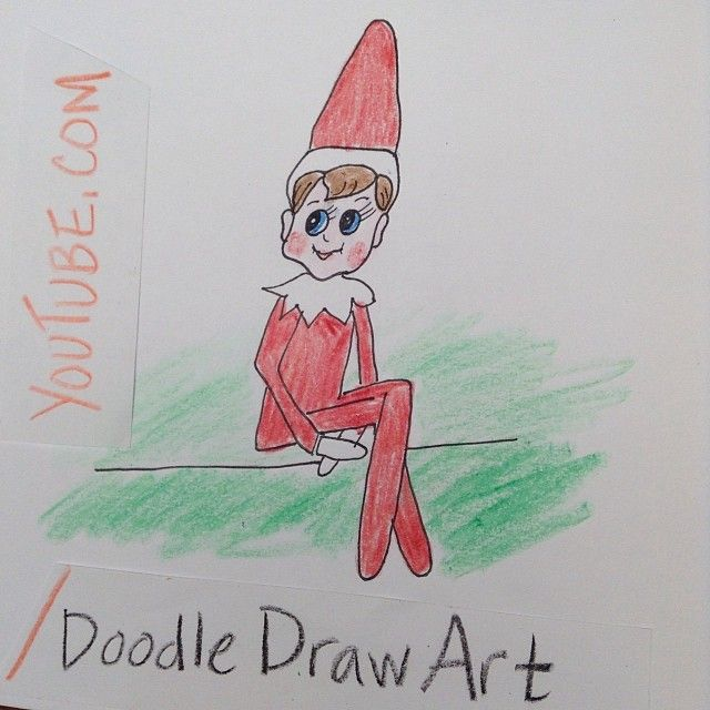 The Elf On A Shelf Can Draw A Self Portrait Or The Kids Can Draw Him Fun Youtube Drawing Tutorial Elf Elfonashe Drawings Doodle Drawings Youtube Drawing