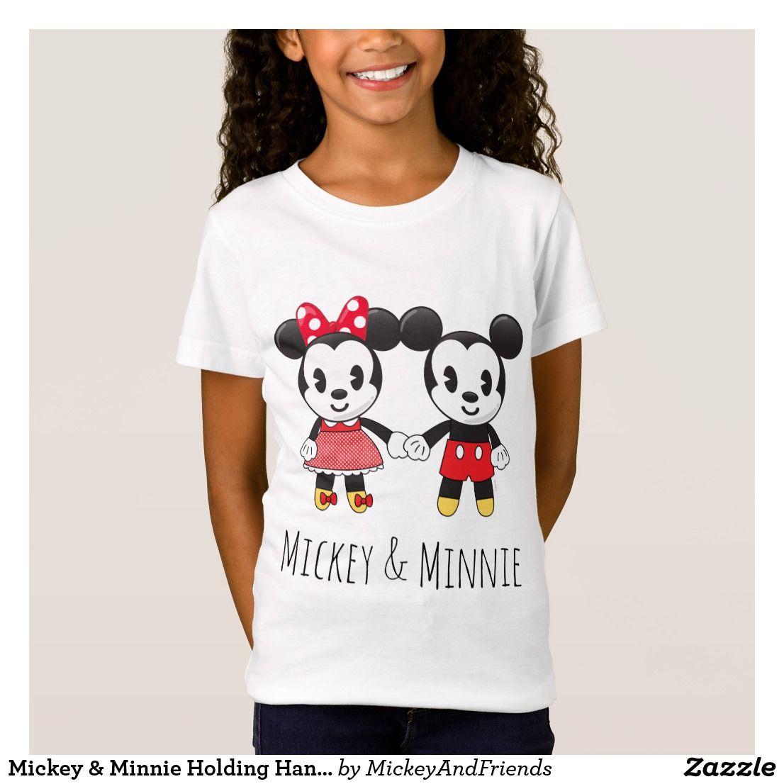 bc5dec459 Mickey & Minnie Holding Hands Emoji 2 T-Shirt #minniemouse #disney  #mickeyshirts #mickemouse minnie mouse mickey mouse snacks ideas mickey  mouse parties ...