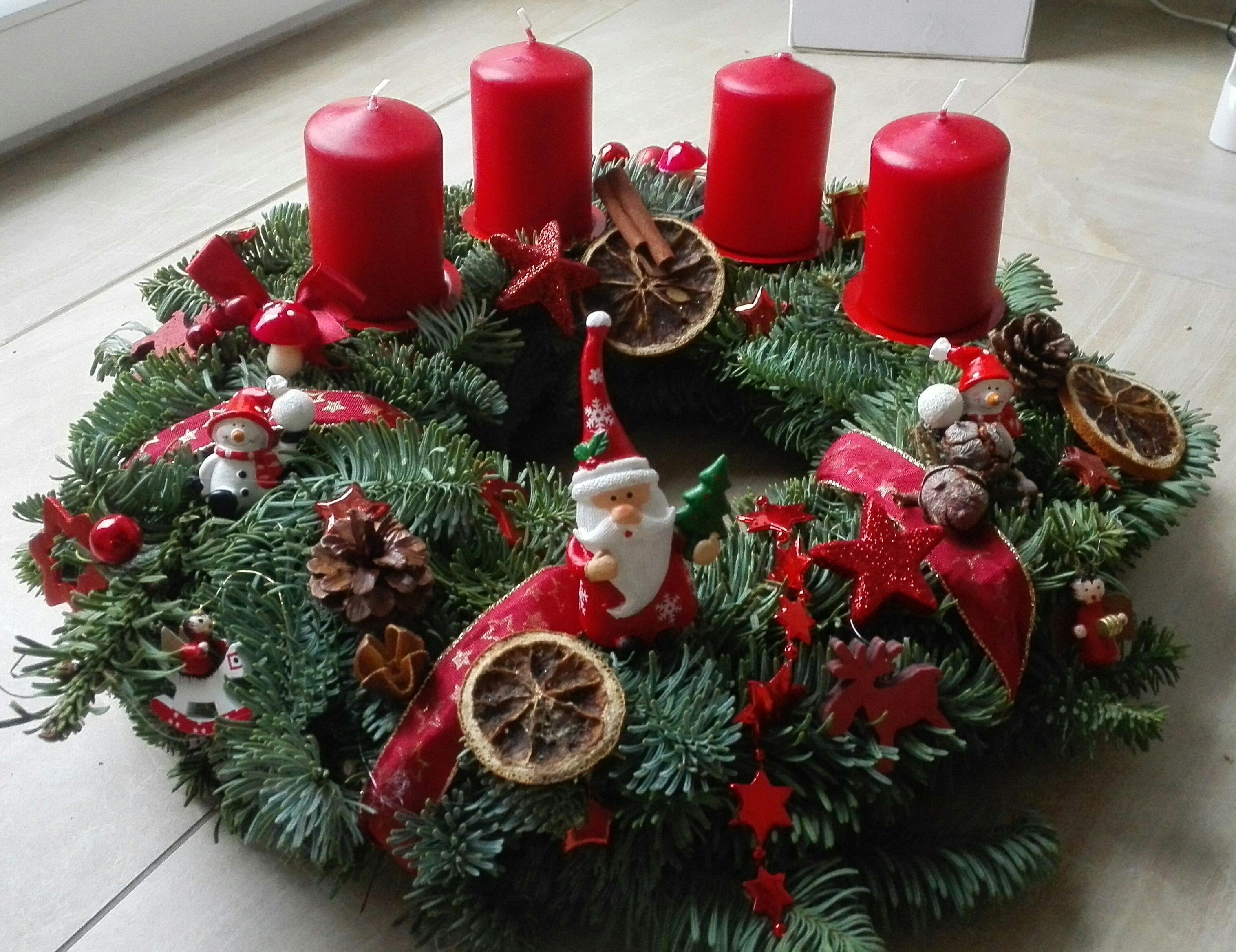 Adventskranz Weihnachtskranz Advent Deko Kleine Schneemanner