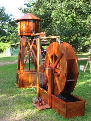 Water Tower And Water Wheel Backyard Pinterest Water Garden