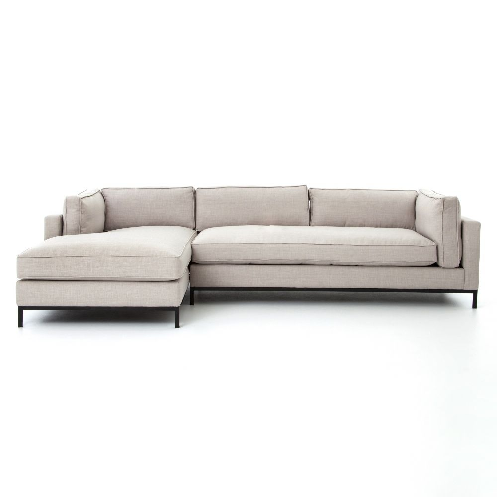 Allison Modern Classic Beige Upholstered 2 Piece Sectional Left Arm Facing In 2020 Nebraska Furniture Mart Sectional Sofa Couch Sectional Sofa