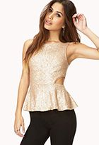 Dazzling Peplum Top...New Years Eve for Sure!