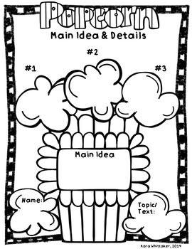 Main Idea Graphic Organizer Craftivity Main Idea Graphic Organizer Graphic Organizers Elementary Activities