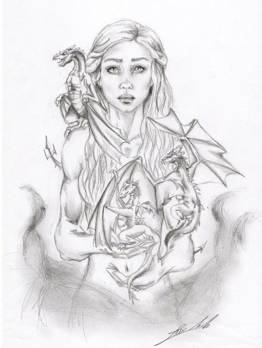 Daenerys Targaryen By Siroka On Deviantart Dragon Coloring Page Game Of Thrones Art Fairy Coloring Pages
