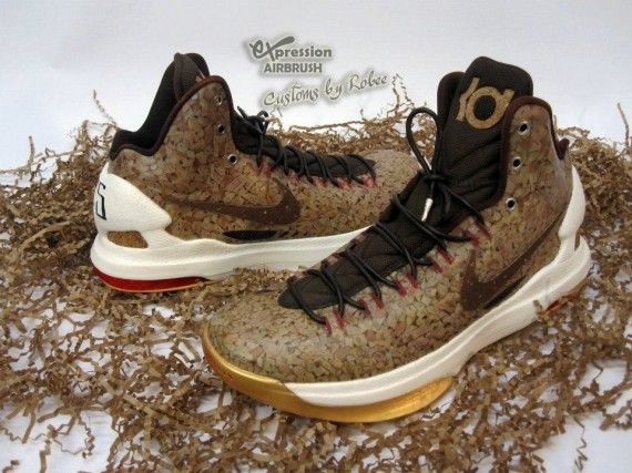 buy online b3c59 eb5db Nike KD V UnCorked Customs by Expression Airbrush