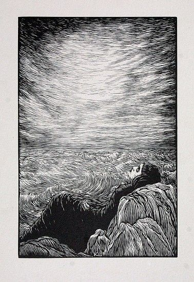 patchthatsweater: František Kobliha  Girl in Grain (1920) woodcut (via the cabinet of the solar plexus)