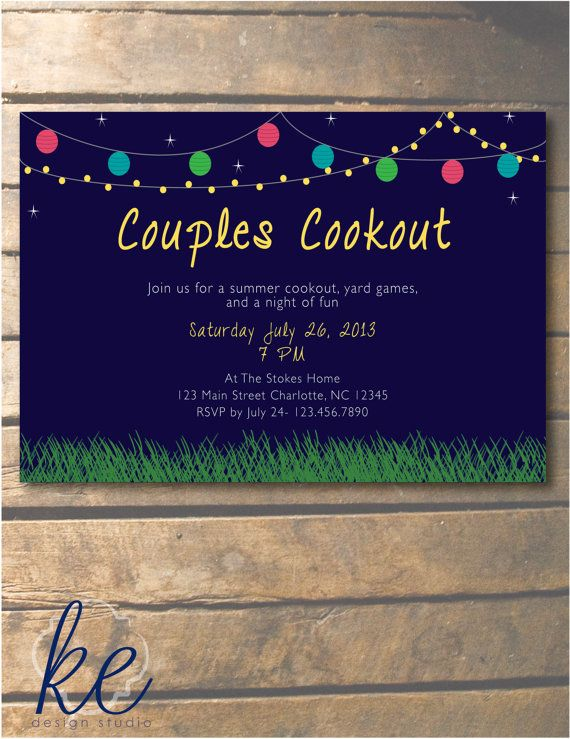 summer cookout party invitation the creator pinterest party