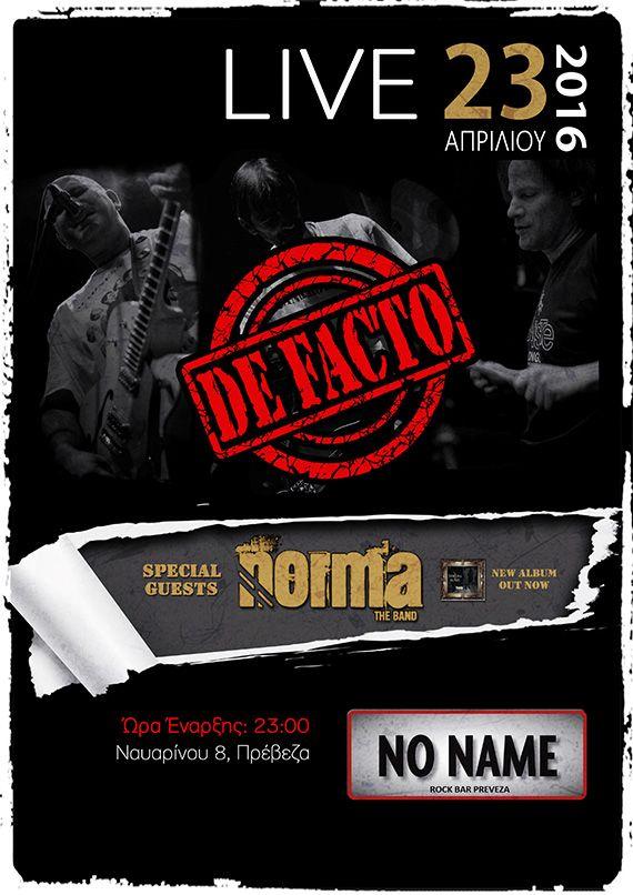 Γιάννενα: Κοινές εμφανίσεις οι De Facto και οι Norma