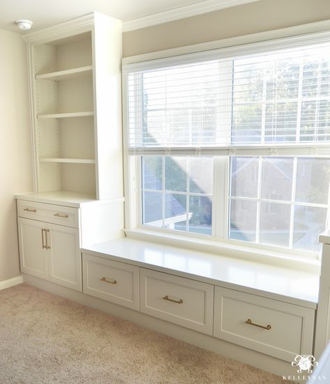 One Room Challenge- Week 2: The Office Built-Ins are Installed!   Kelley Nan