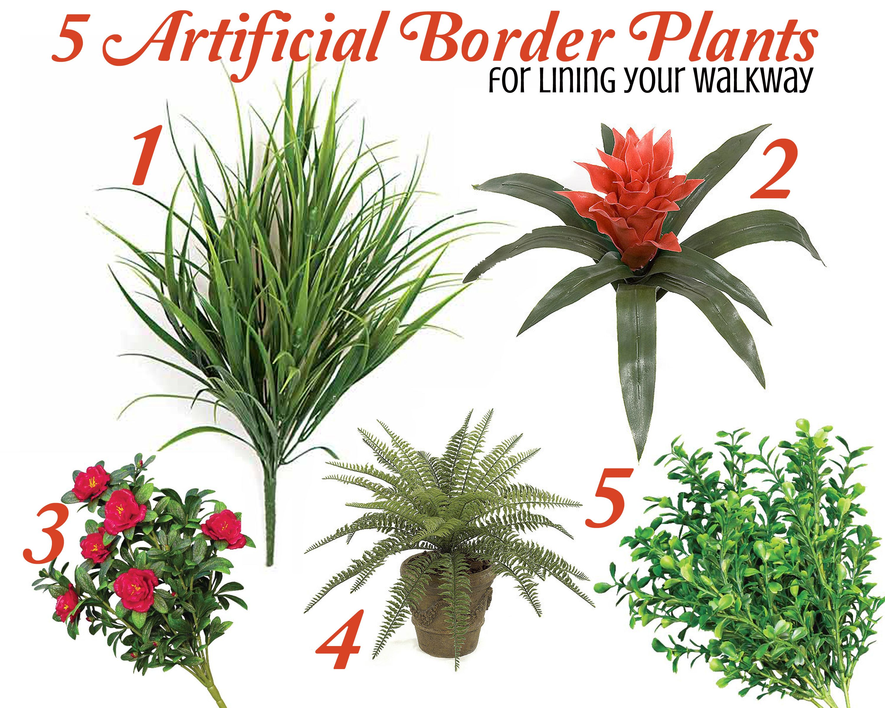 5 Artificial Border Plants To Line Your Walkway