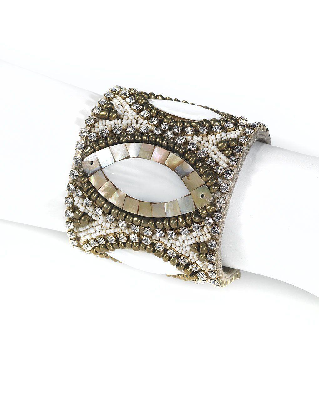 Spiegelbeadedcuffbraceletuniquedesigndp