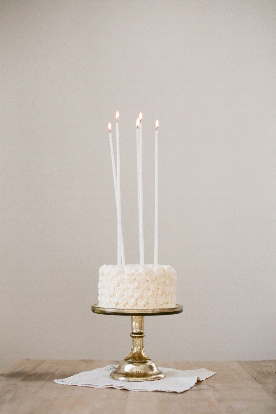 Love candles for a wedding cake