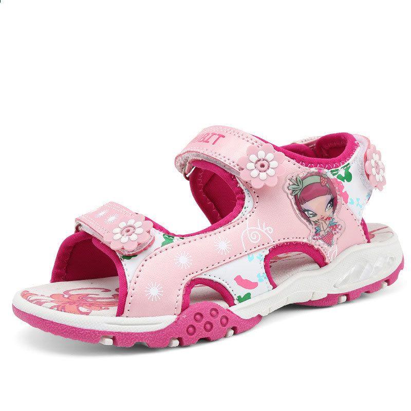 Sandaly Dziewczece Lato W Nowym Stylu Obuwie Dzieciece Dziewczyna Moda Wyciecia Sandaly Dzieciece Plocienne Deszczowe Girls Sandals Girls Shoes Children Shoes