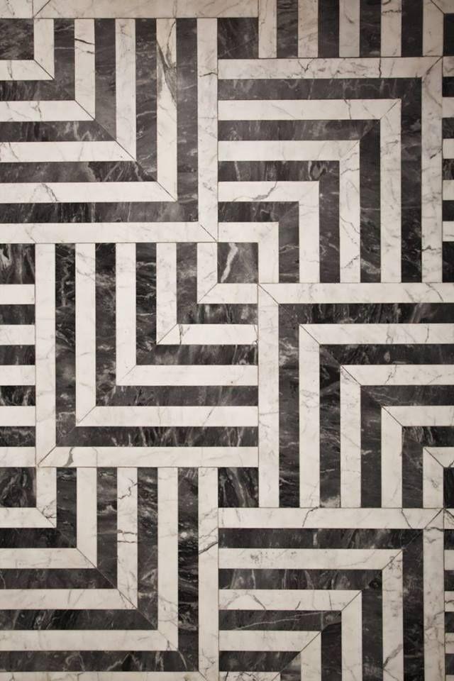 BLACK WHITE TILES FROM Kelly Wearstler interior design IN LOVE
