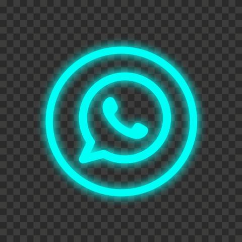 Hd Light Blue Neon Outline Whatsapp Wa Round Circle Logo Icon Png Circle Logos Logo Icons Neon Png