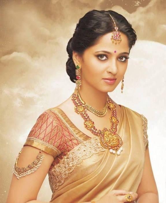 Hairstyle For Bride On Saree: #Anushkashetty Images,