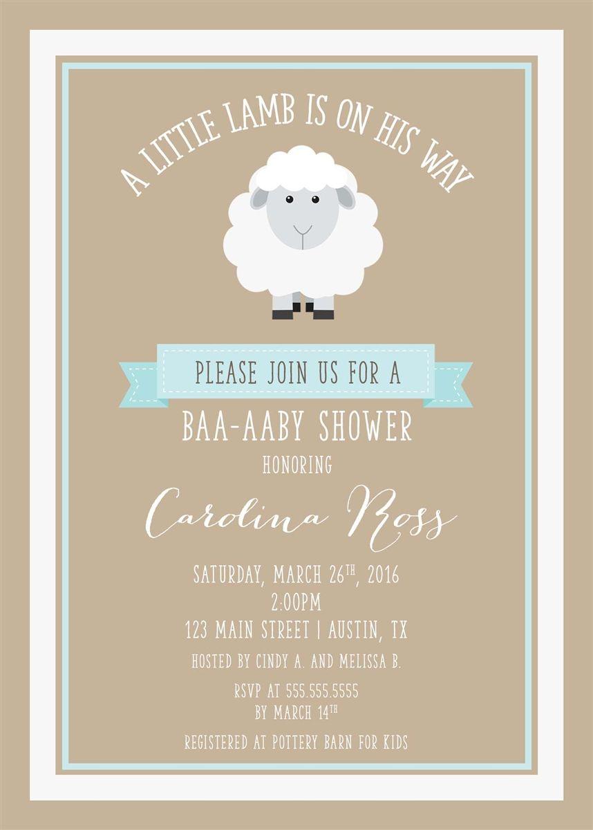 a0c2885e5ad5a31eea462f89d731e065 little lamb baby shower invitation yvette's stuff pinterest,Lamb Themed Baby Shower Invitations
