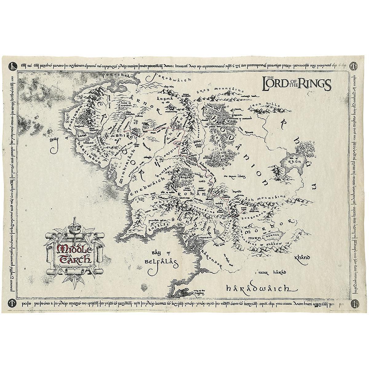 Middle Earth Map In 2020 Karte Von Mittelerde Herr Der Ringe