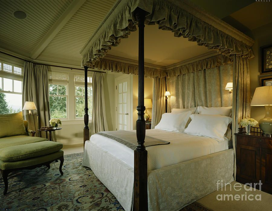 Four Poster Canopy Bed Canvas Print