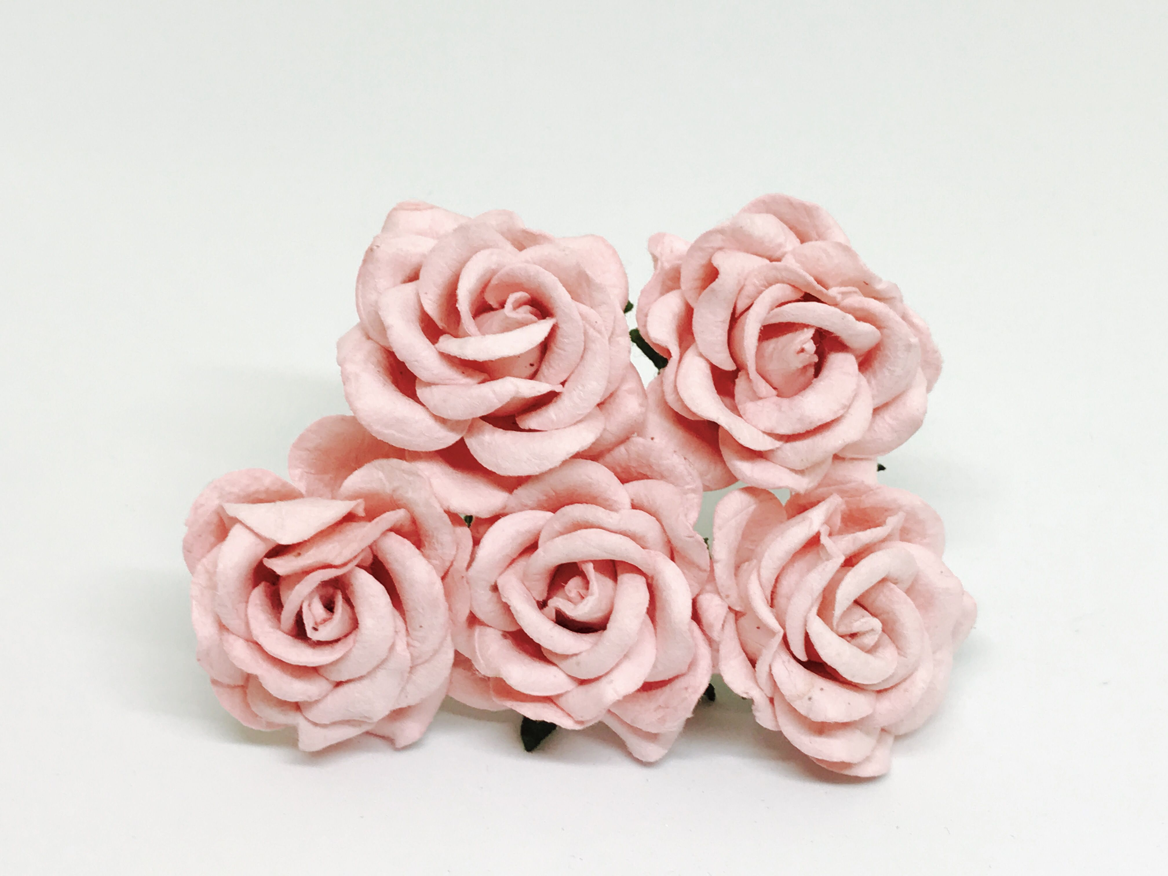 15 Mulberry Paper Flowers Blush Pink Paper Flowers Pinterest