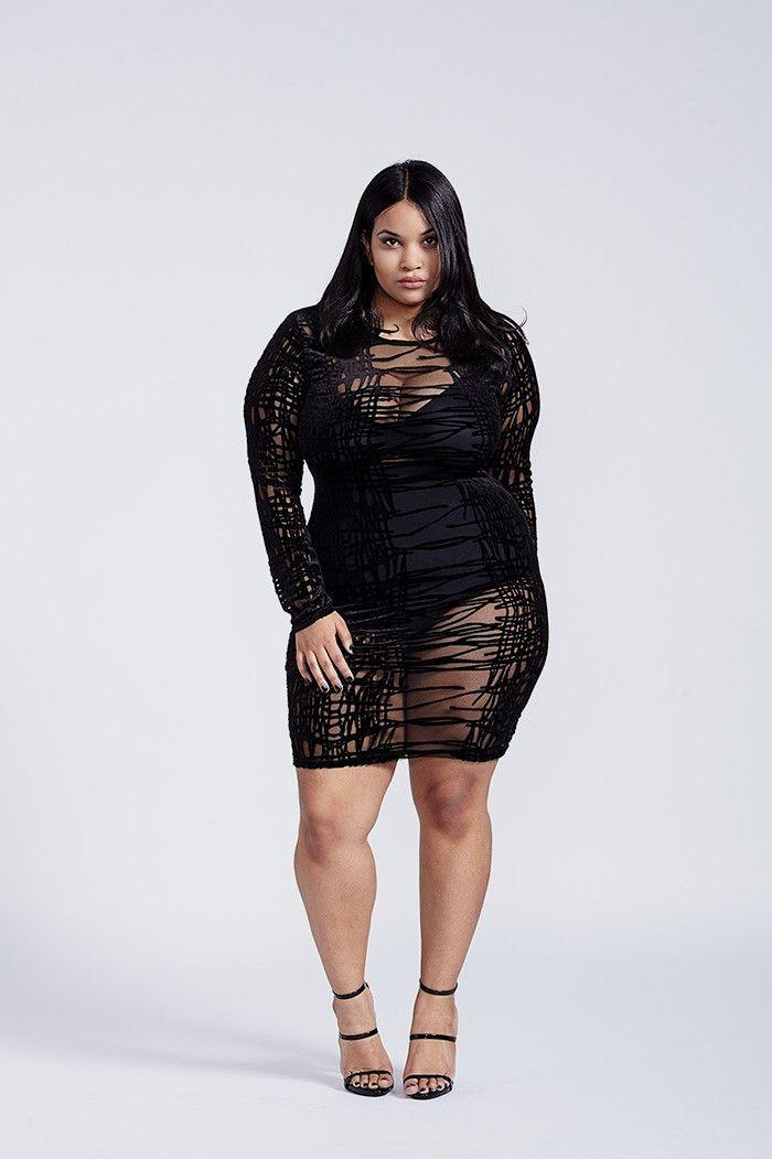 Venomous Black Mesh Mini Long Sleeve Velvet Bodycon Dress ...