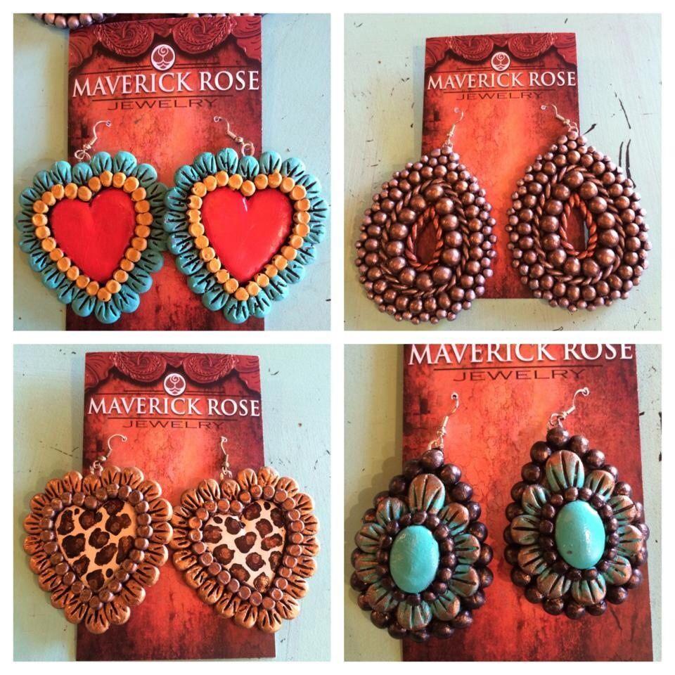 Maverick rose earrings