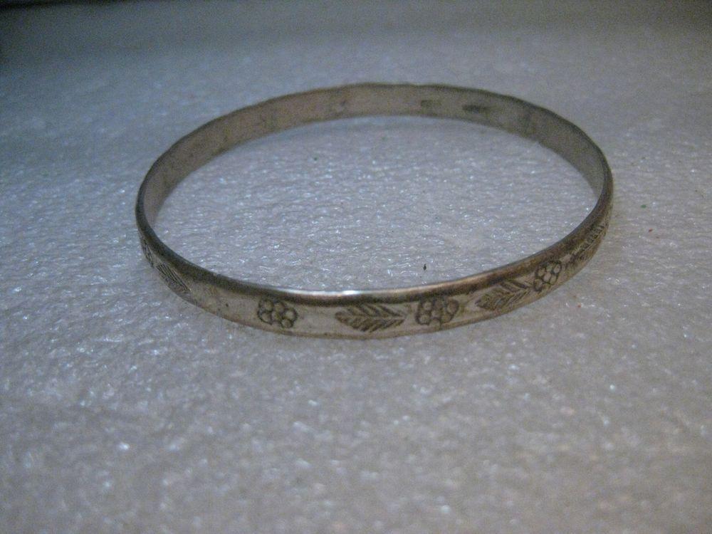 Vintage Silver Mexican Bangle