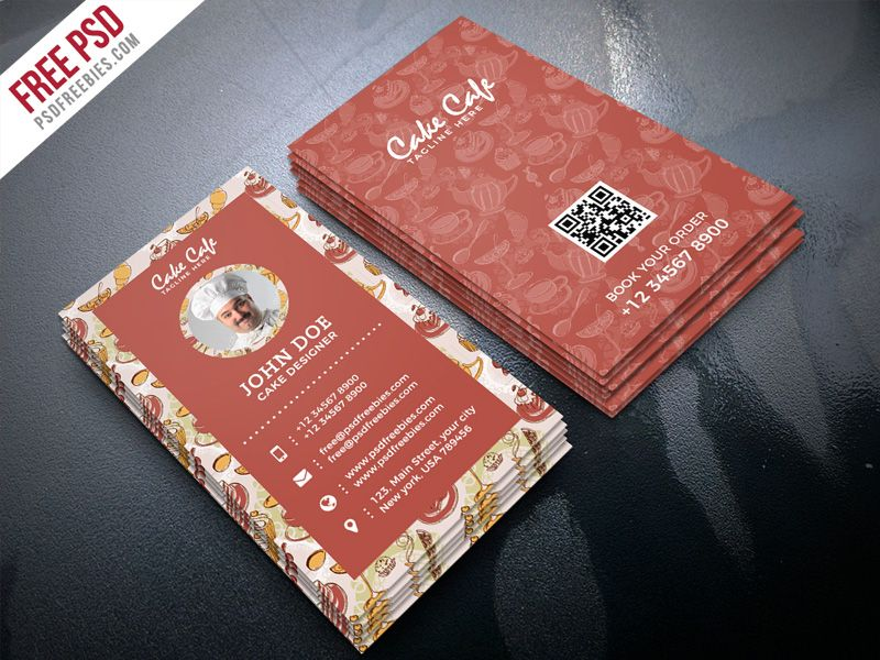 Cake shop business card psd template business card psd psd download free cake shop business card psd template a minimal and great business card designed reheart Images