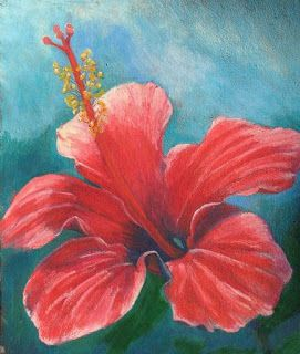 Oil Pastel On Black Paper Red Hibiscus In Oil Pastel Oil Pastel Art Oil Pastel Oil Pastel Techniques