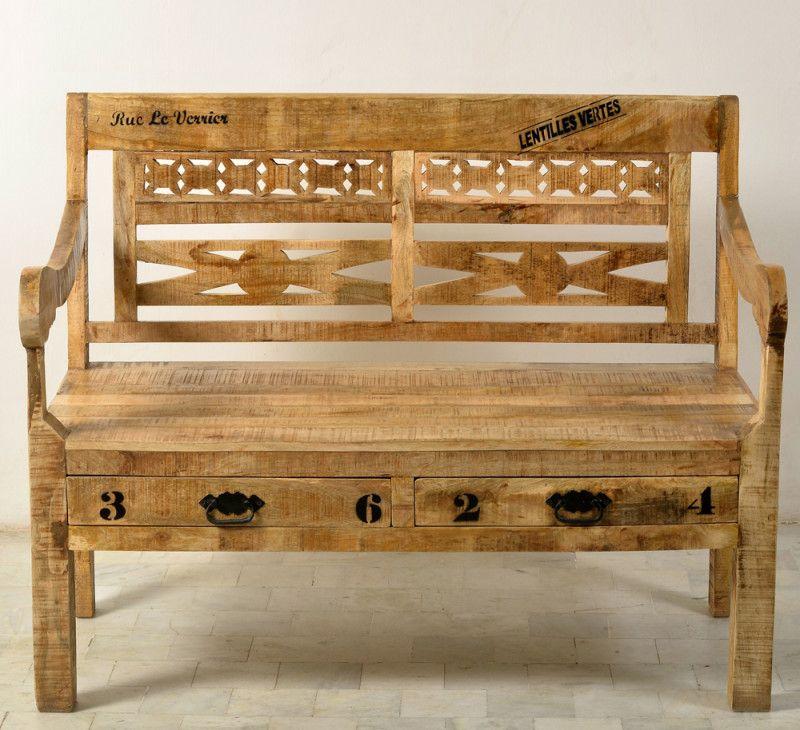 Grandiose Holzbank mit Schüben für Garten, Küche oder Diele - holzbank für küche
