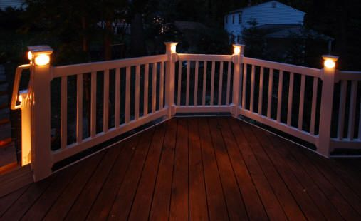 Deck rail lighting ideas deck lighting ideas home railing deck fencing ideas utah deck railing ideas apex carpentry aloadofball Image collections