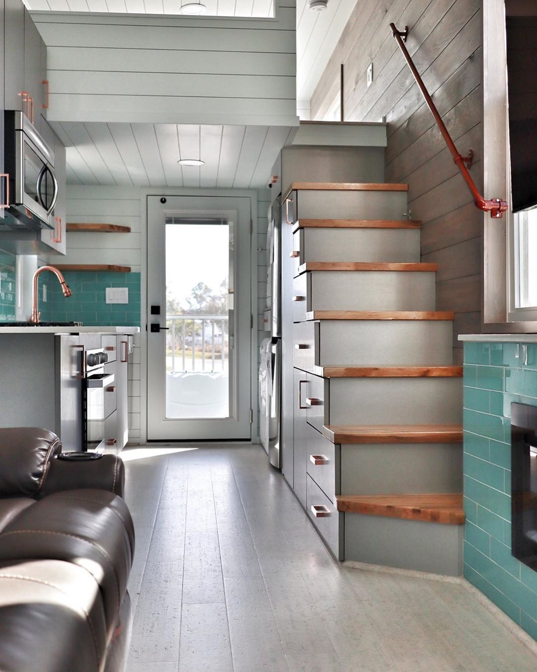 1 738 Likes 13 Comments Movable Roots Tiny Homes Movable Roots On Instagram Plenty Of R Tiny House Layout Tiny House Inspiration Tiny House Living Room