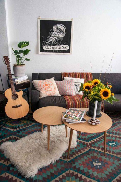Mit mycs zum gemütlichen Spätsommer im Wohnzimmer - wohnzimmer deko orange