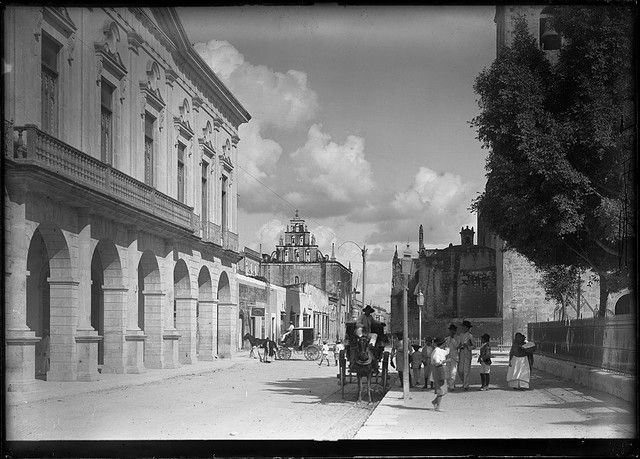 Street Scene With Horse Drawn Carriage Yucatan Venado