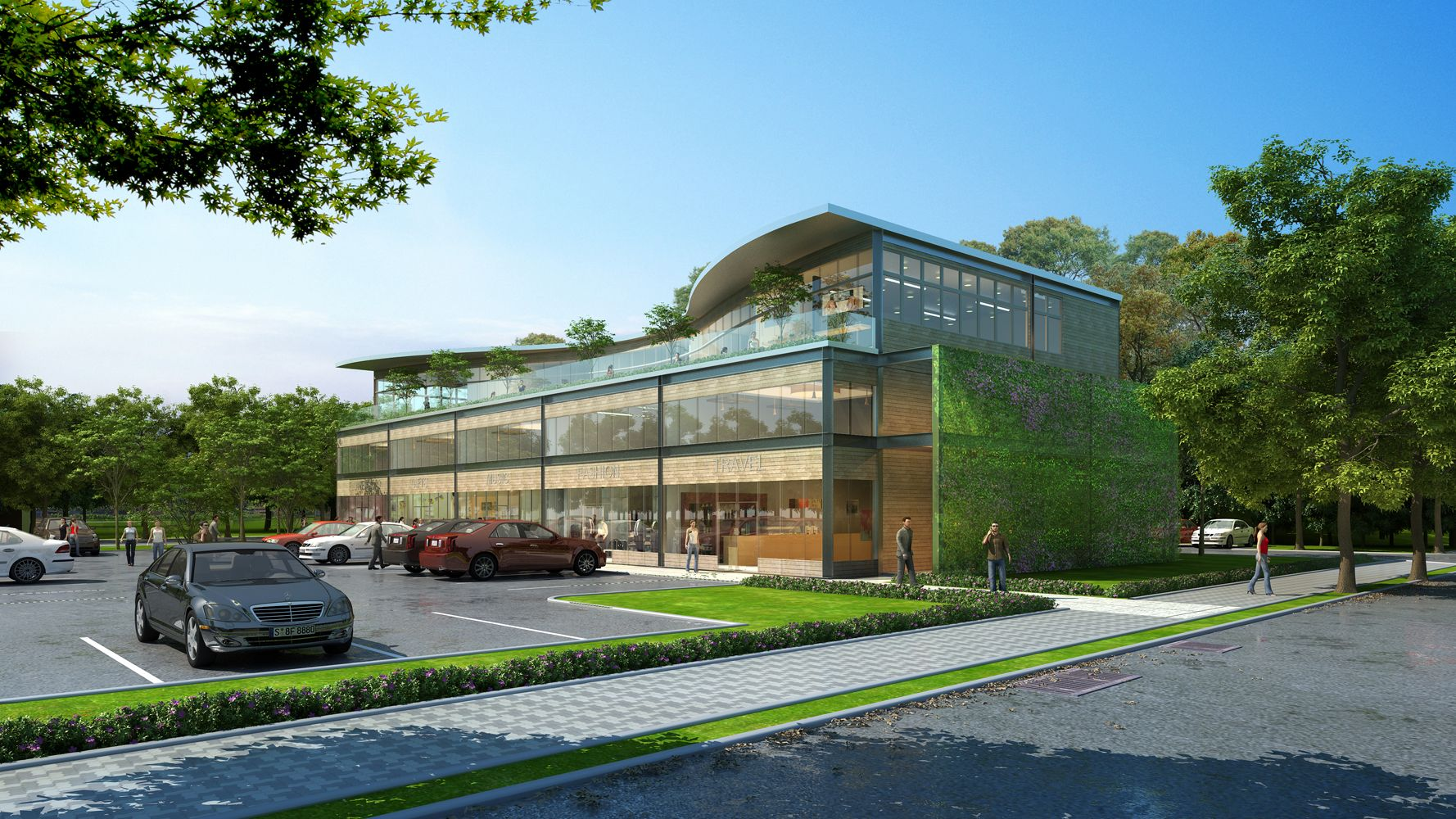 A sustainable retail and office building proposal