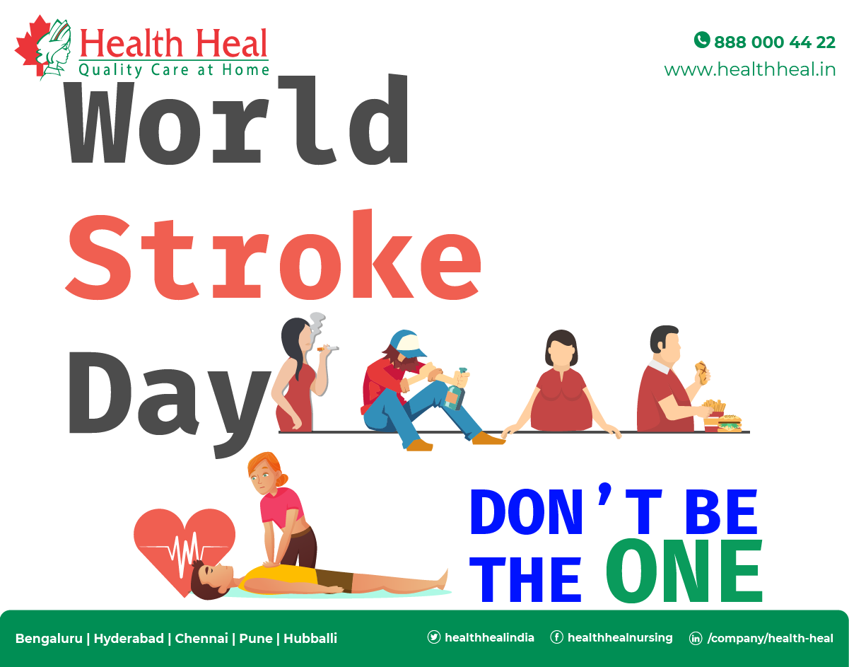 World Stroke Day On 29 October 2019 Theme Is Don T Be The One World Stroke Day Medical Surgical Nursing Nursing Procedures