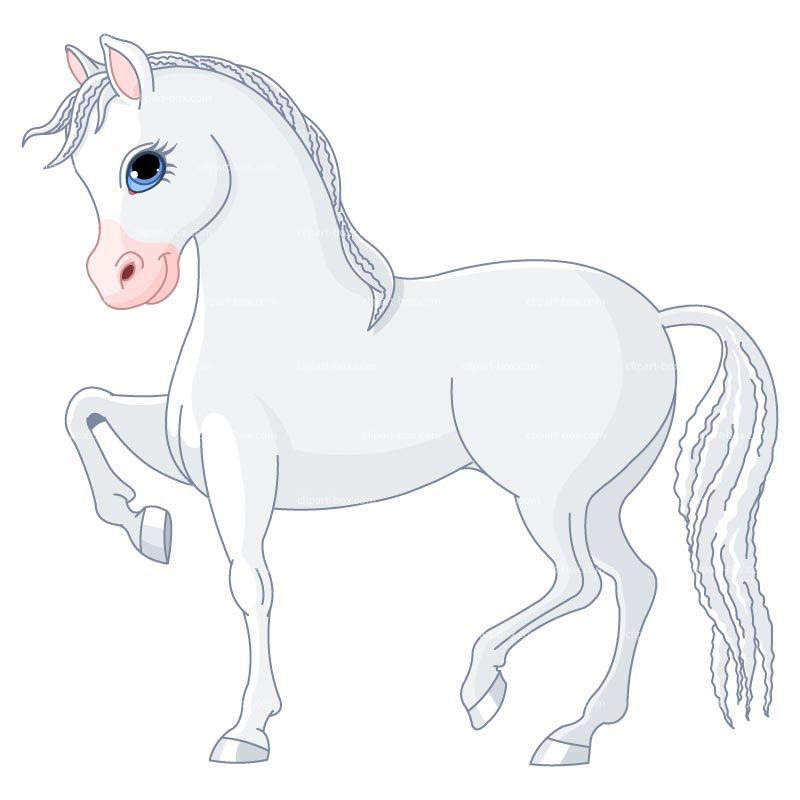 Clipart White Horse Cartoon Style Royalty Free Vector Design Horse Cartoon Horse Drawings Cartoon Horse Pictures