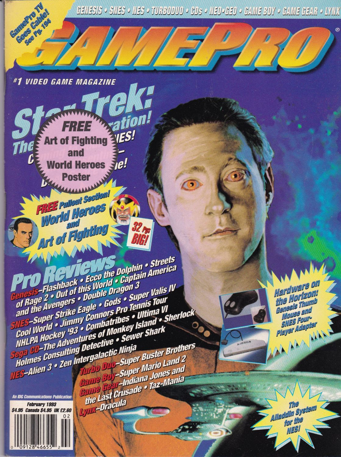 Console Magazine Gamepro Magazine Star Trek The Next Generation 1993 Game Data