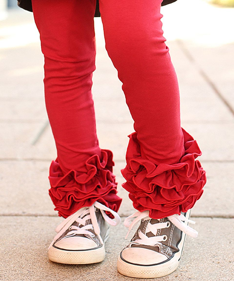 Look what I found on #zulily! Red Icing Leggings - Infant & Girls by Sew Sassy Boutique #zulilyfinds