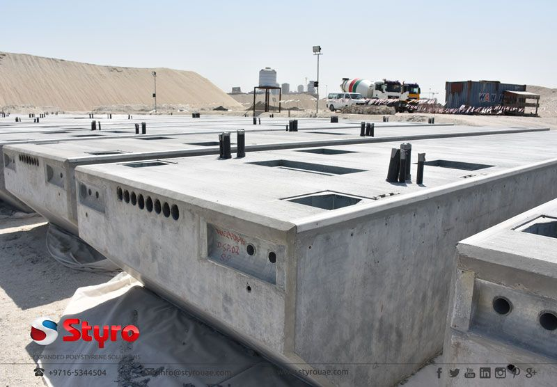 Cement And Concrete Coated Styrofoam Pontoons Floating House Pontoon Water House