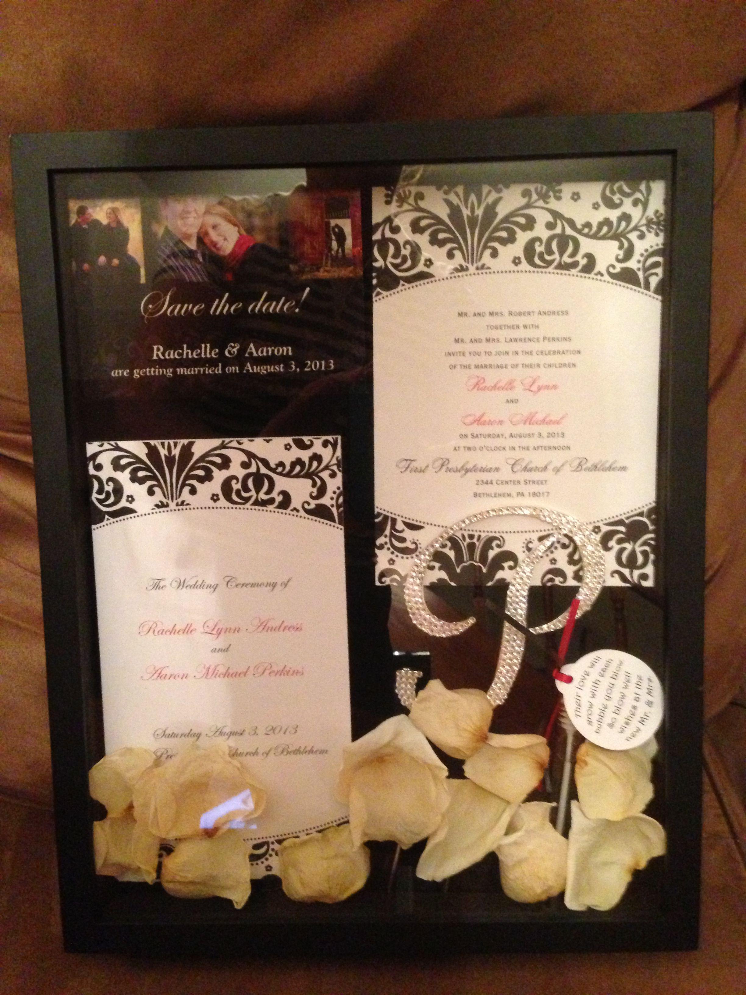 Wedding Shadow Box done! Diy wedding bouquet, Wedding