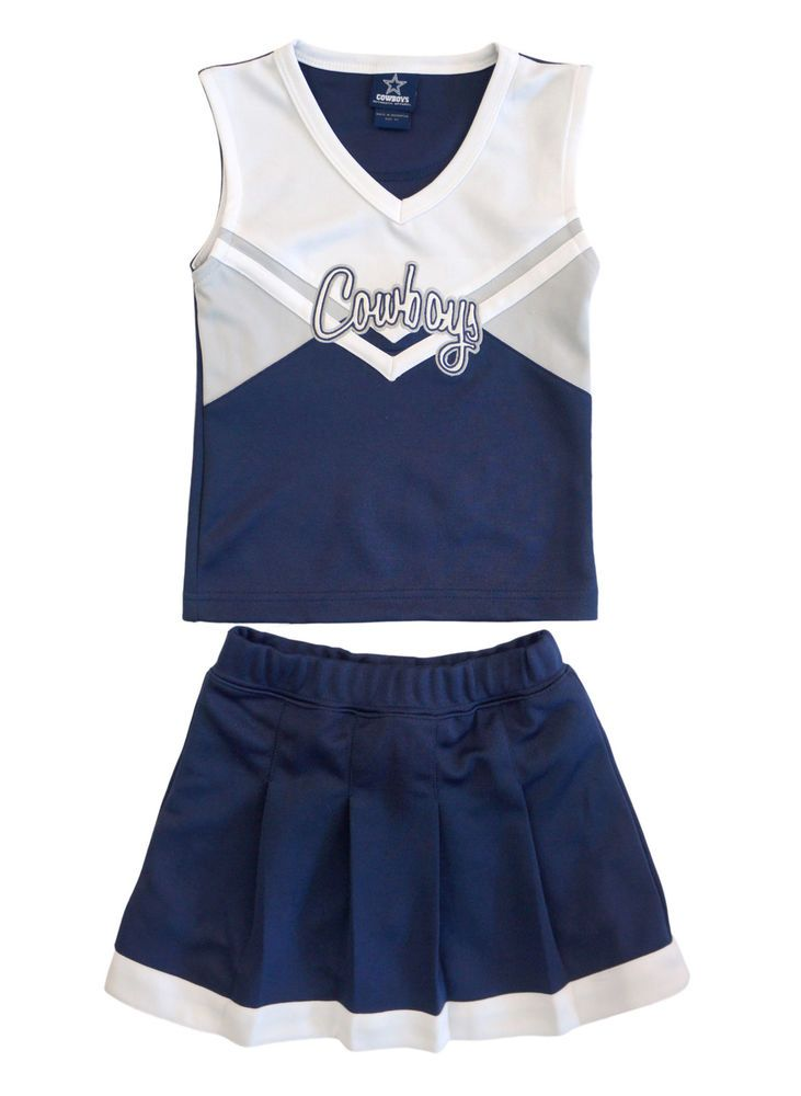 d80f4e5428f DALLAS COWBOYS Girls Cheerleader Outfit Navy Blue White Top Skirt 4T  AUTHENTIC #Cowboys #Everyday